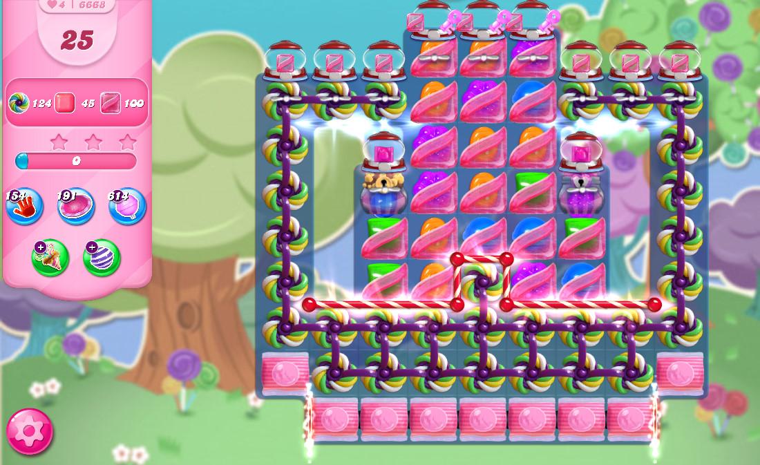 Candy Crush Saga level 6668