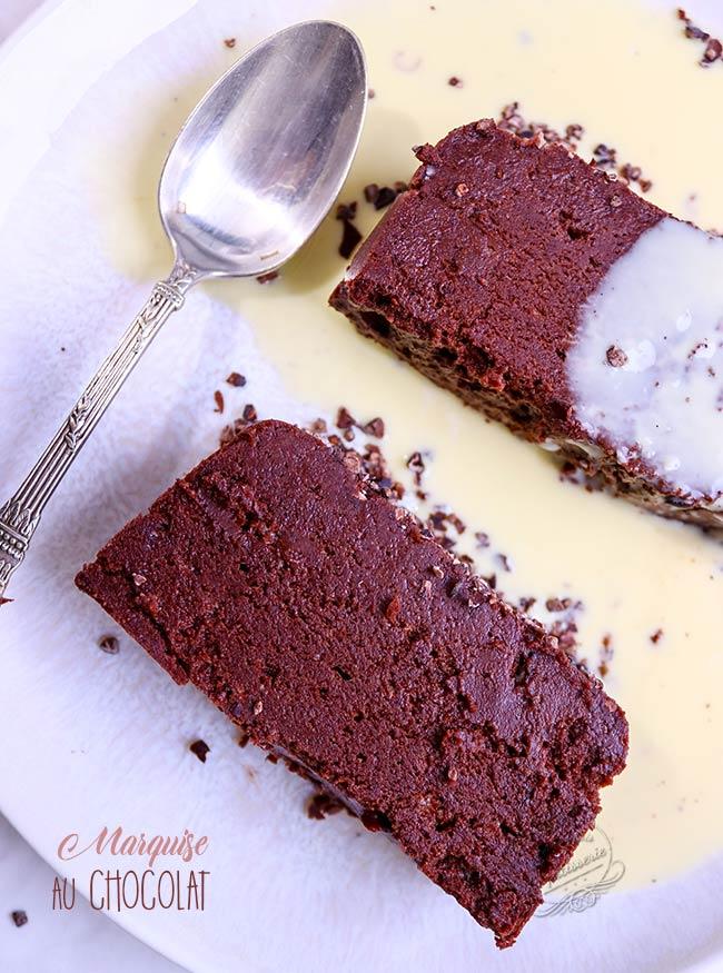 marquise au chocolat facile