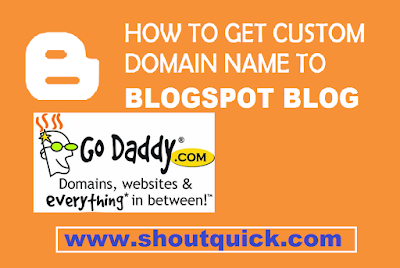 How to add godaddy domain name to BlogSpot