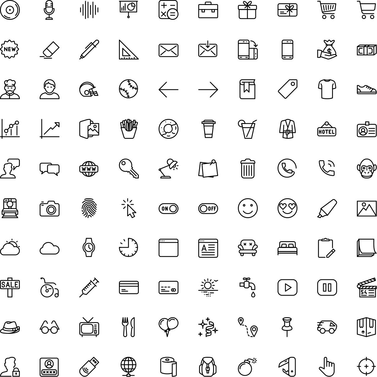 100 Free Icons Pack
