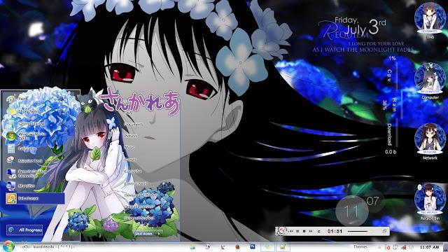 Sankarea Windows 7 Theme