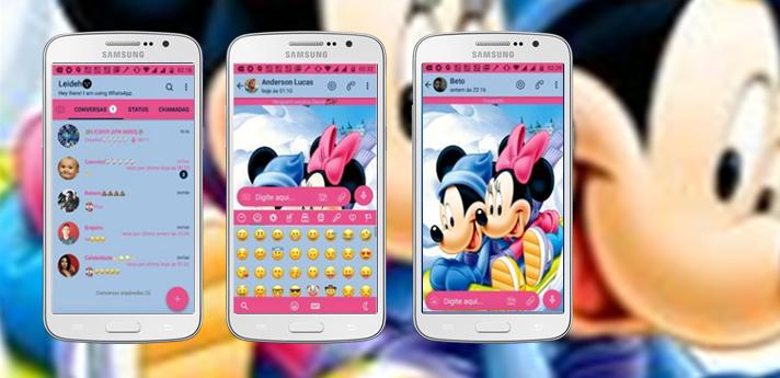 Baixar Temas GBWhatsapp - Mickey and Minnie