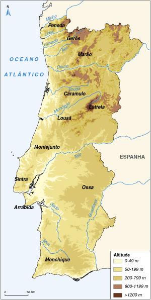 serras de portugal no mapa Serras De Portugal Continental Mapa | thujamassages serras de portugal no mapa
