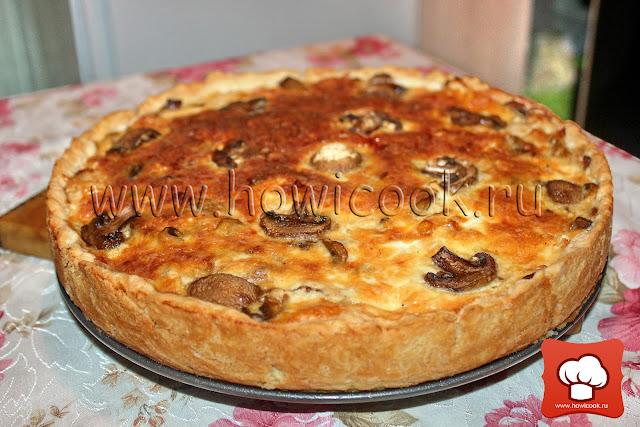 рецепт пирога с курицей и грибами