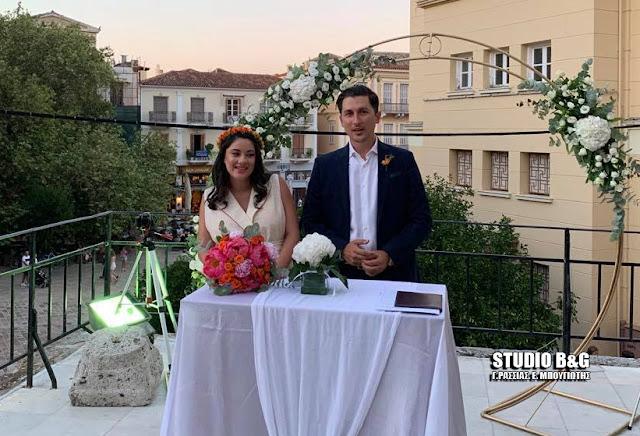 Παντρεύτηκε στο Ναύπλιο ο εκπρόσωπος τύπου του ΚΙΝΑΛ Παύλος Χρηστίδης