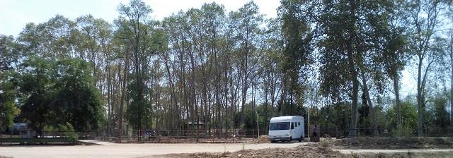 Emplaçament de l'àrea d'autocaravanes de Tordera (Maresme).