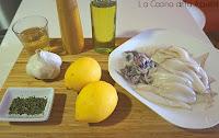 Calamares al limón.