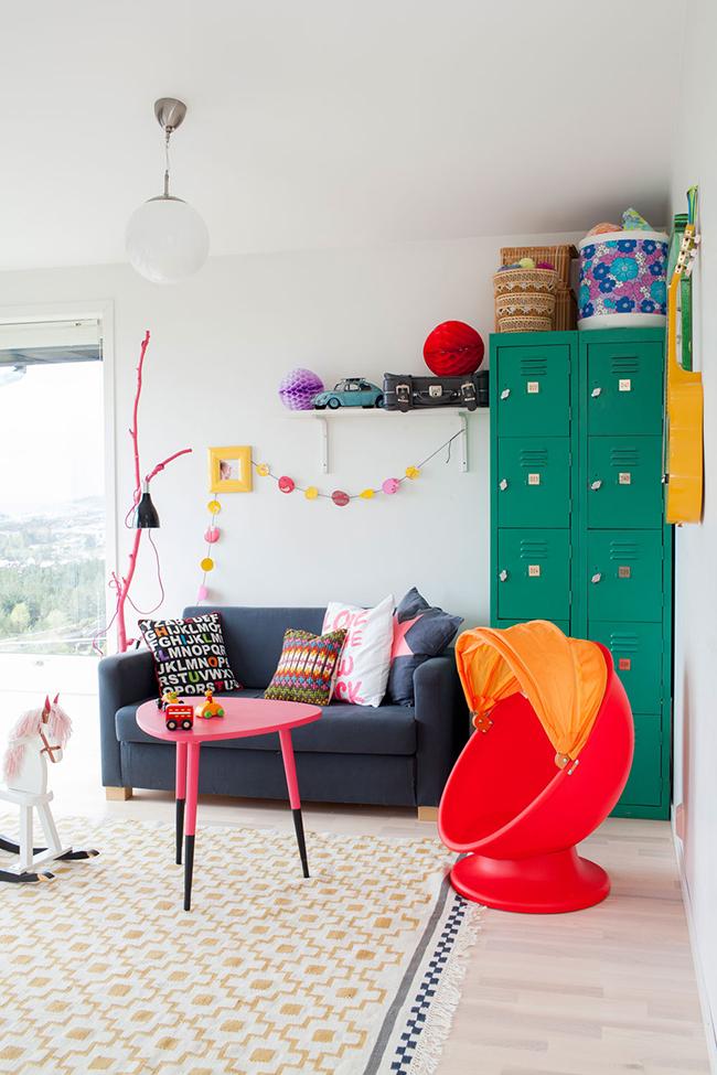 Color y creatividad en una casa de familia numerosa