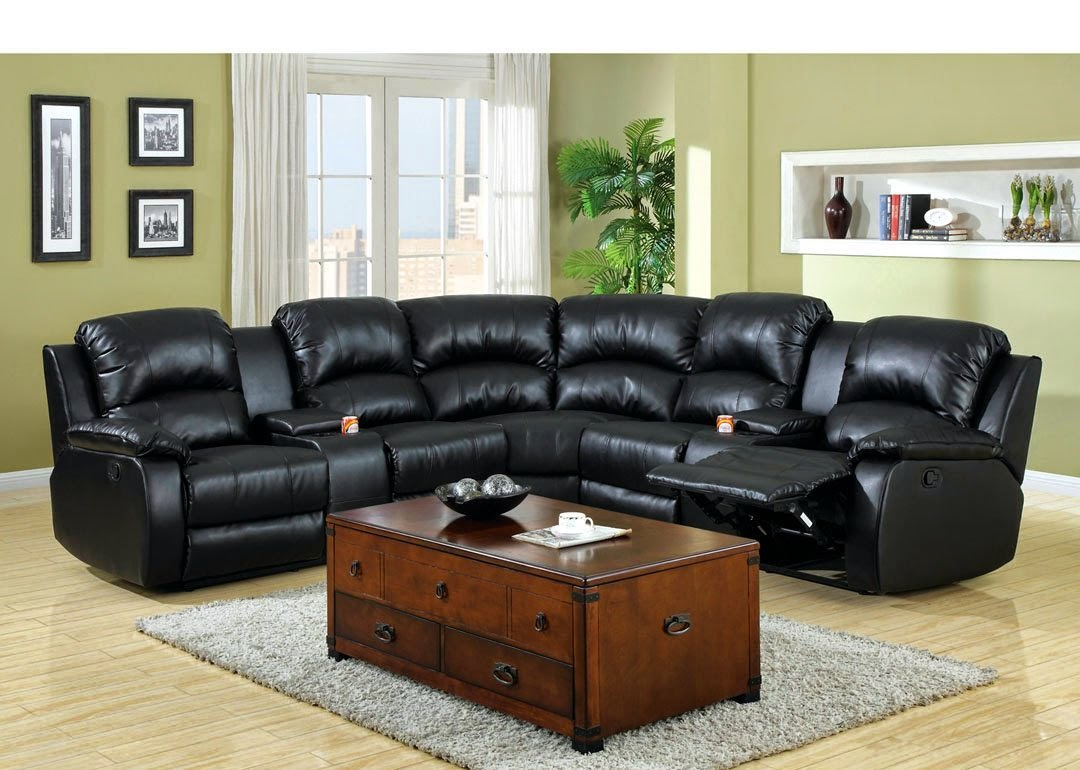 Sectional Reclining Sofa Sale England Novak Black Pearl