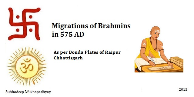 Migration of Brahmins as per Bonda Plates 575 AD