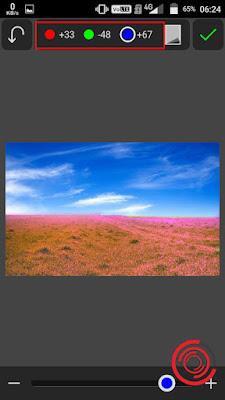 5. Terakhir silakan kalian kombinasikan warna dasar Merah, Hijau, dan Biru sampai menghasilkan warna rumput yang kalian inginkan. Jika sudah klik centang untuk menyimpan hasil nya