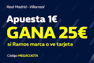 william hill MEGACUOTA Real Madrid vs Villarreal 16-7-2020