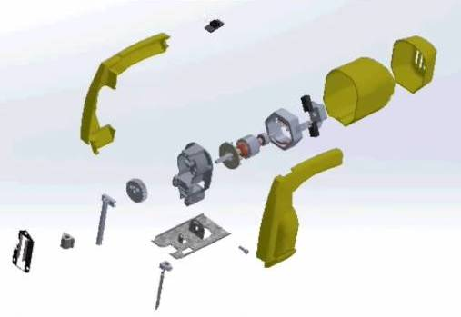 اجزاء المنشار الكهربائي اليدوي
