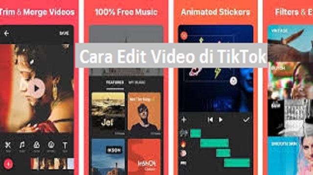 cara edit video di tiktok