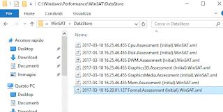 File XML con risultato WinSAT