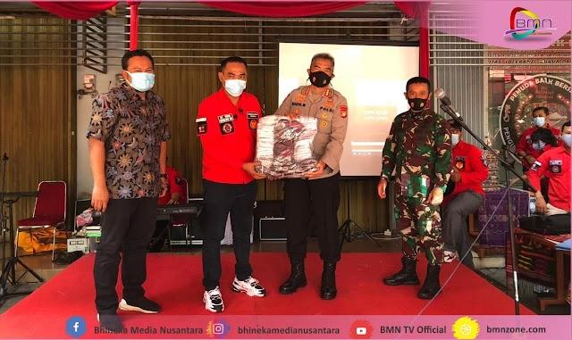 Pemuda Batak Bersatu Maju Menjadi Salah Satu Pelopor Jakarta Bermasker
