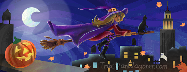 Illustration Friday Witch created by Traci Van Wagoner