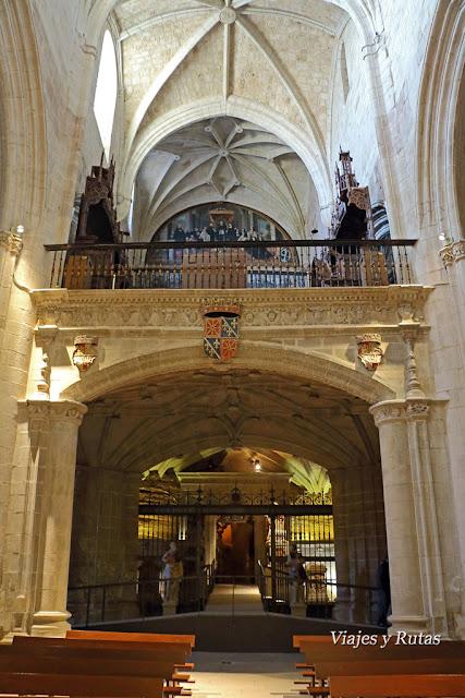 Coro alto y Panteón real del Monasterio de santa María la real de Nájera