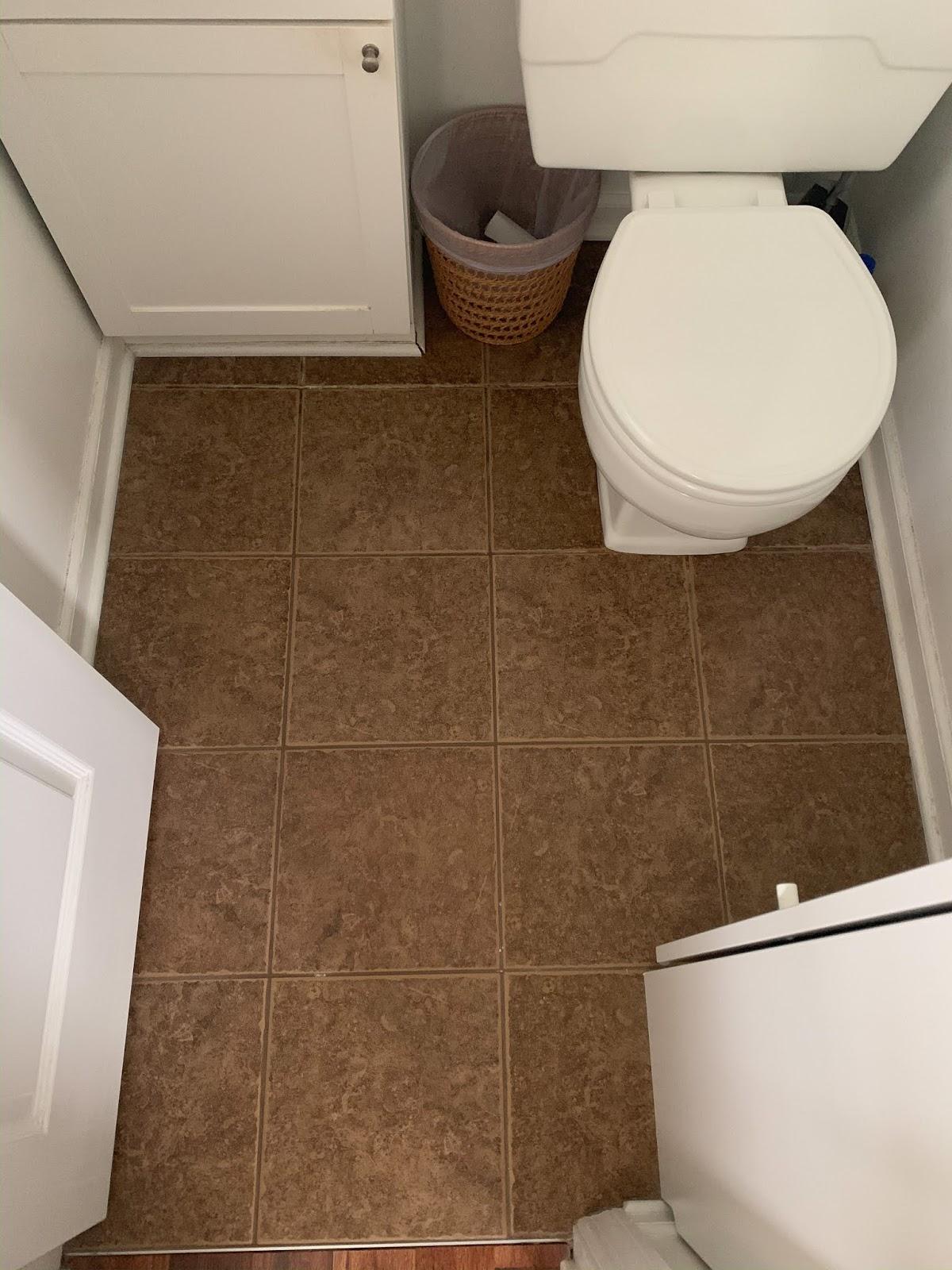 Thistle Harvest Stenciling My Bathroom Floor
