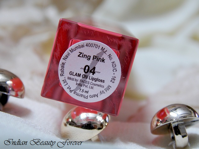 Faces Glam On Lip Gloss Zing Pink Review and Swatches
