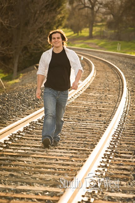 Templeton, CA Senior Portrait Photographer - Rail Road Track Photos - Studio 101 West Photography