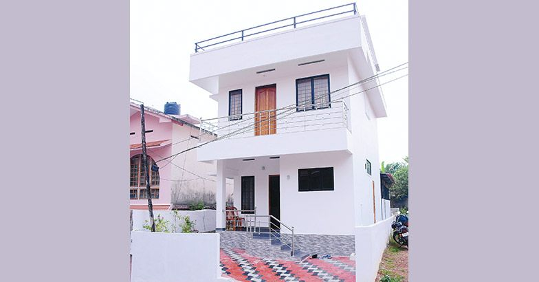 4 bedroom low budget home in 2 cent plot for 17 lakhs with for House plans in 10 cents