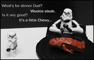 star wars lego minifigures chewbacca joke funny