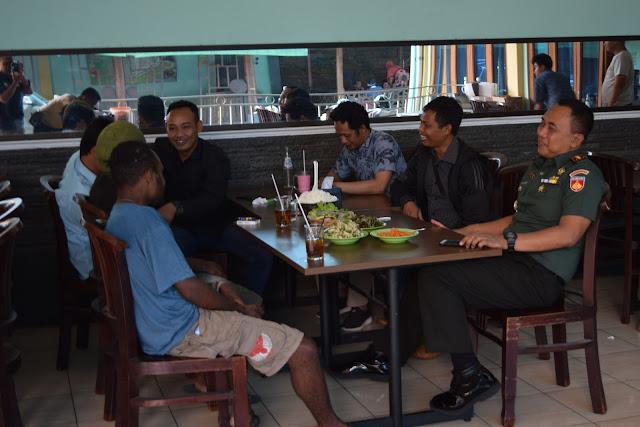 Berikan Rasa Nyaman, Dandim Klaten Silaturohmi Dengan Warga Papua