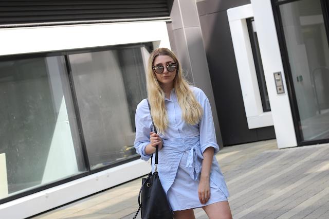zara tied shirt fashion blog