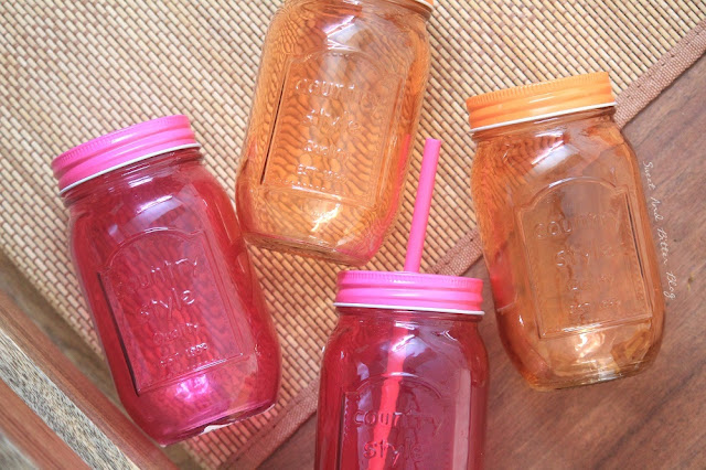 Chumbak Jewel Toned Mason Jars with Straw