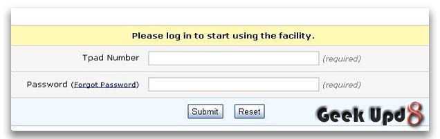 Step 2. Login at TPad