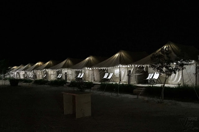 One of the resorts at Sam offering Swiss tents