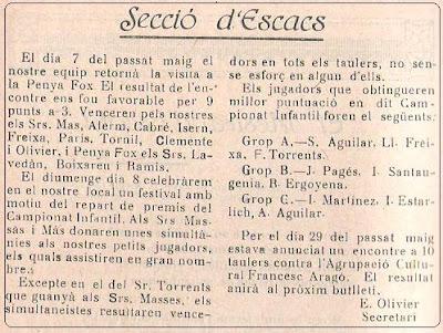 Boletín 118 del Casal Catòlic de Sant Andreu, mayo de 1932