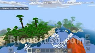 Jungle biome, jungle wood + pulau salju dan es