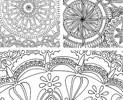 Adult coloring pages and stationery available at http://marblesandjam.etsy.com