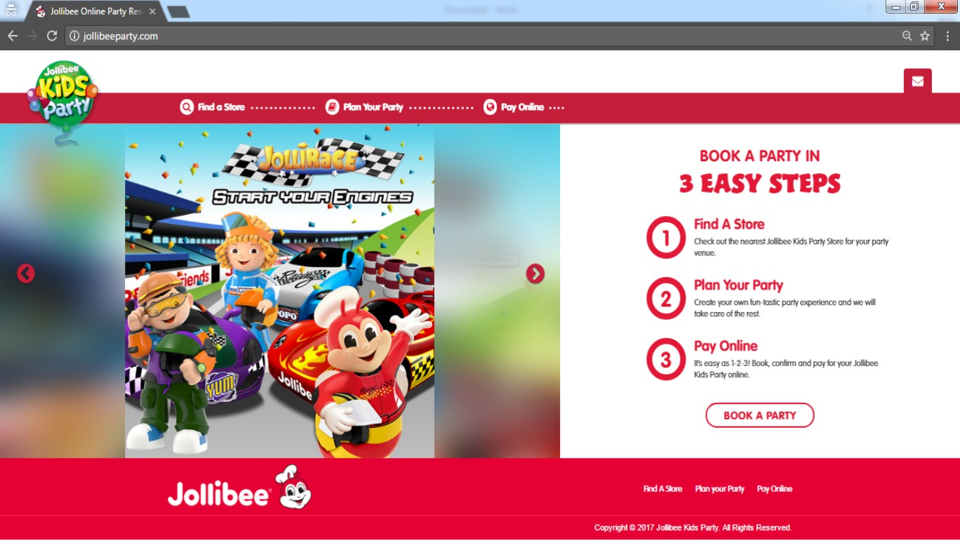 Jollibee kiddie party how to reserve mrs chubs diary step 1 check out the nearest jollibee party stores for your party venue stopboris Gallery