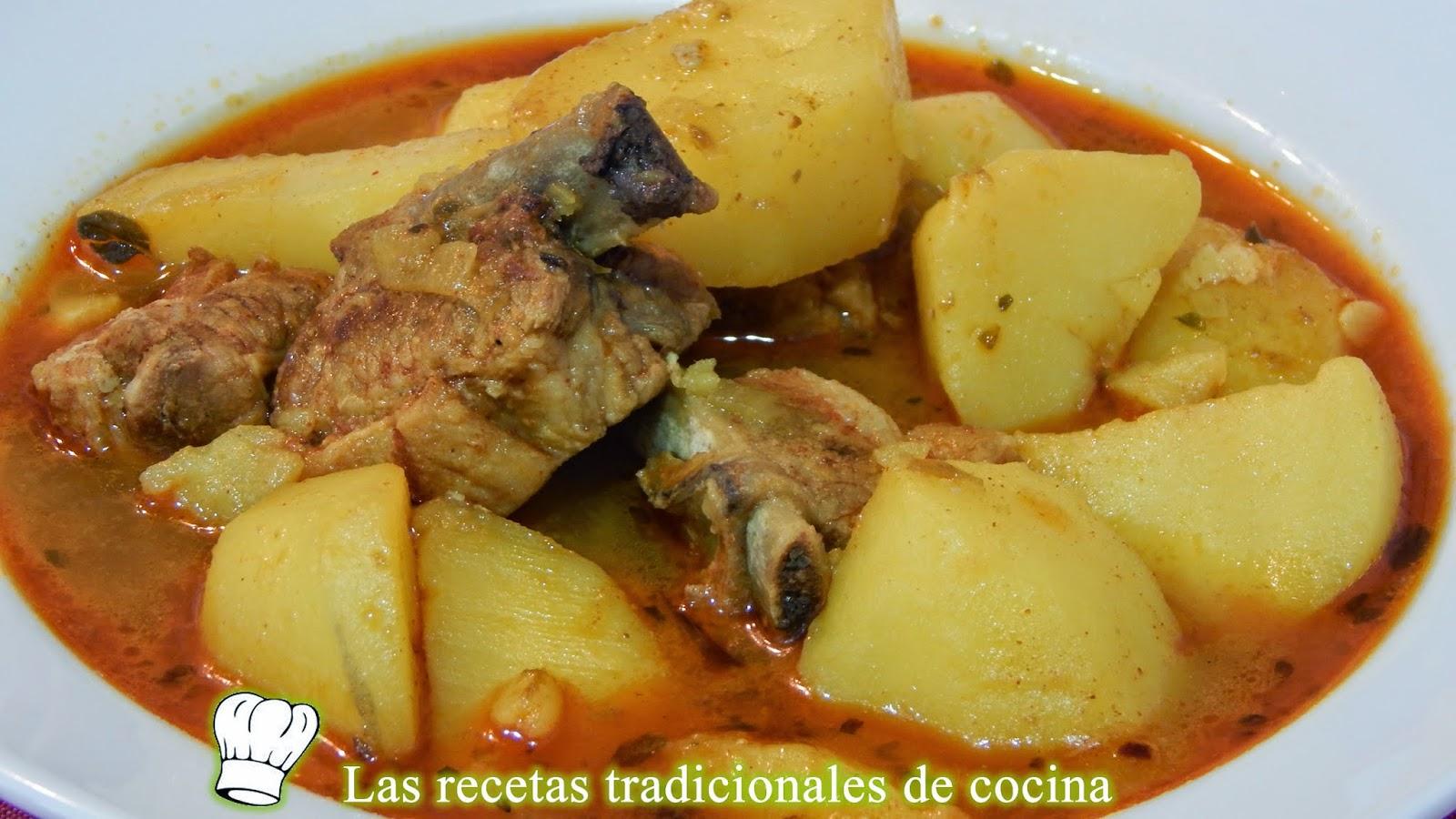 Receta de guisado de patatas con costillas adobadas - Lentejas con costillas y patatas ...