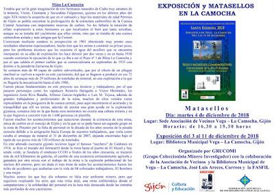 Díptico sobre la exposición de GRUCOMI en la Camocha
