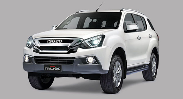 New 2018 Isuzu MU-X Facelift Spalsh White pics