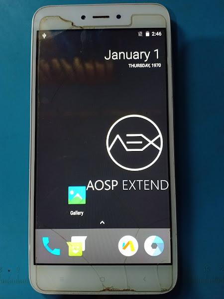 AOSP Extended Custom ROM Redmi Note 5A