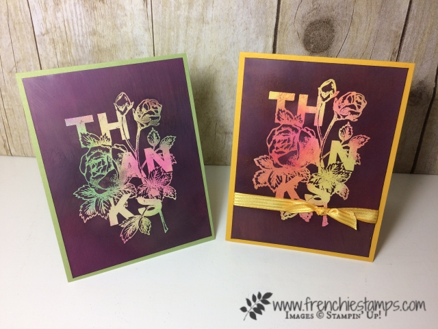 Floral Statements, Joseph' Coat Technique,  Stampin'Up!