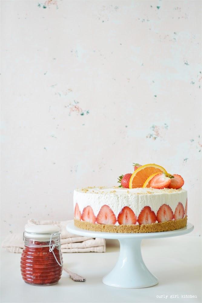 Strawberry Orange Cheesecake, Strawberry Cheesecake, No-bake Cheesecake Recipe, Strawberry Dessert Recipes, Summer Dessert, No-bake Dessert
