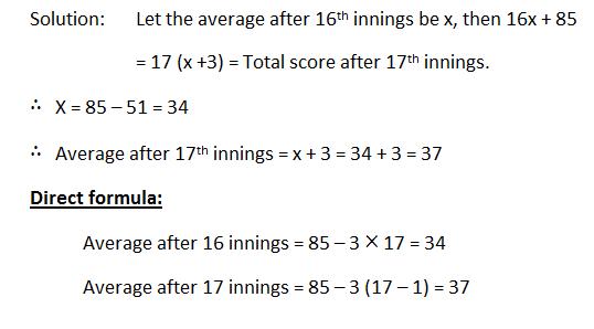 average formula