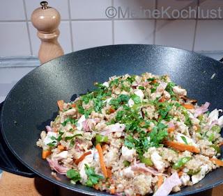 Gebratener Reis mit Huhn
