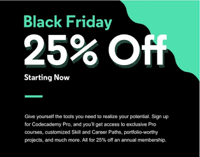 CodeCademy Black Friday & Cyber Monday 2020 Deal