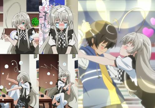 Ahoge changing shape. Character: Nyaruko. Anime: Haiyore! Nyaruko-san