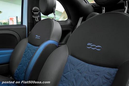Fiat 500 SEAQUAL interior