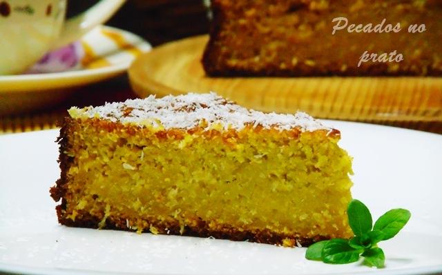 Receita do bolo de batata doce com coco