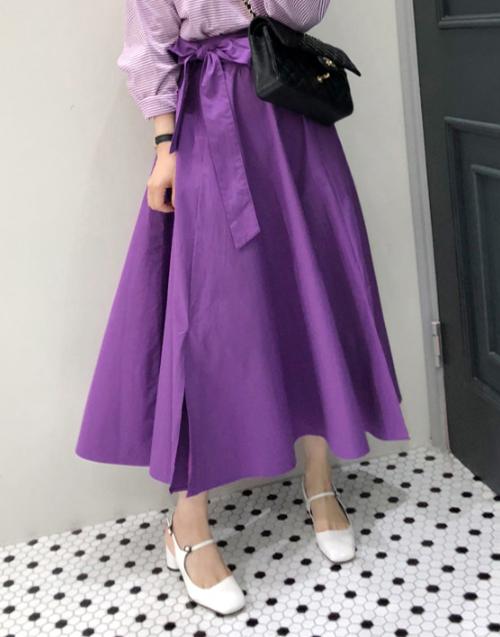 Tie-Waist A-Line Midaxi Skirt