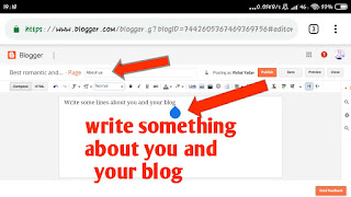 How to create About us pages in blogger